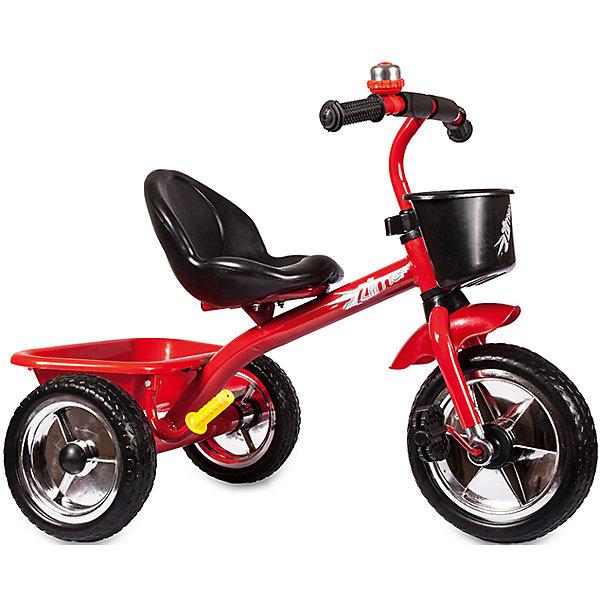 Трехколесный велосипед Zilmer Голден Люкс, 10/8, красныйВелосипеды и аксессуары<br>Характеристики:<br><br>• возраст: от 1 года;<br>• цвет: красный;<br>• материал рамы: сталь;<br>• материал сиденья: пластик с антискользящим покрытием;<br>• материал колес: EVA;<br>• сиденье со спинкой;<br>• диаметр заднего колеса: 8 <br>• диаметр переднего колеса: 10 <br>• мягкая накладка на руле;<br>• максимальная нагрузка: 25 кг;<br>• вес: 3 кг.;<br>• размер упаковки: 50х38х40 см;<br>• вес с упаковкой: 4,3 кг;<br>• страна бренда: Китай.<br><br>Трехколесный Велосипед Zilmer «Голден Люкс» отлично подойдет для летних городских прогулок. Колеса сделаны из плотного упругого материала на основе вспененного каучука, что смягчает ход велосипеда по неровной дороге.<br><br>Педали расположены на большом переднем колесе. Если ребенок захочет затормозить, достаточно перестать вращать педали. На руле есть мягкая накладка и звонок, руль не регулируется по высоте. На концах ручек встроены ограничители против удара.<br><br>У велосипеда удобное глубокое сиденье с небольшой спинкой и бортиком спереди. Имеется две корзины, спереди и сзади. Велосипед не складывается.<br><br>Велосипед Zilmer «Голден Люкс», 3 колеса EVA 10/8, красный можно купить в нашем интернет-магазине.<br>Ширина мм: 300; Глубина мм: 225; Высота мм: 200; Вес г: 4250; Возраст от месяцев: 12; Возраст до месяцев: 36; Пол: Унисекс; Возраст: Детский; SKU: 4642329;