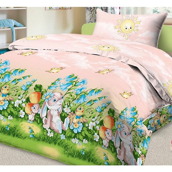 Letto Детское постельное белье 3 предмета Letto, простыня на резинке, бязь letto постельное белье индиго 50х70 letto