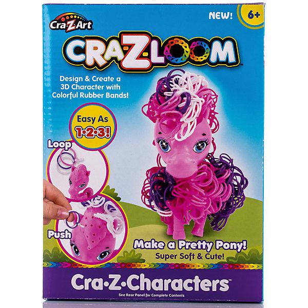 Crazy Loom Набор для плетения из резиночек Пони, Cra-Z-Loom большой комплект дополнительных резиночек 1 7 цветов 2100 штук 116460