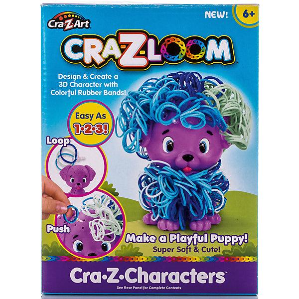 Crazy Loom Набор для плетения из резиночек Щенок, Cra-Z-Loom большой комплект дополнительных резиночек 1 7 цветов 2100 штук 116460