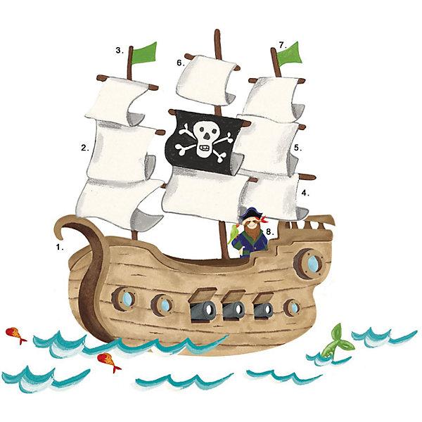 RoomMates Наклейки для декора Пиратский корабль egmont toys магнитная игра пиратский корабль egmont toys