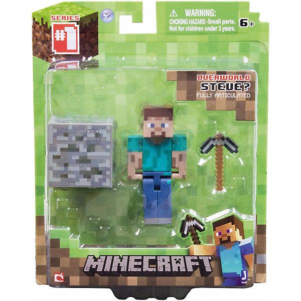 Игровой набор Стив, MinecraftКоллекционные и игровые фигурки<br>Игровой набор Стив, Minecraft – это прекрасный подарок для поклонника популярной игры Minecraft.<br>Игровой набор Стив приведет в восторг поклонников компьютерной игры Minecraft. Теперь ваш ребенок сможет отвлечься от компьютера или планшета, не отрываясь от любимой забавы! Выполненный из высококачественного пластика, комплект включает подвижную фигурку главного героя игры Стива и элементы фантастического мира - пиксельный куб земли и кирку. У фигурки Стива вращается голова, и сгибаются ручки и ножки. Стив может держать в руках различные предметы. Фигурка прекрасно детализирована, реалистично раскрашена.<br><br>Дополнительная информация:<br><br>- В наборе: подвижная фигурка Стива, куб земли, кирка<br>- Высота фигурки Стива: 7 см.<br>- Материал: пластик<br>- Упаковка: блистер<br>- Размер упаковки: 14х17 см.<br><br>Игровой набор Стив, Minecraft можно купить в нашем интернет-магазине.<br>Ширина мм: 145; Глубина мм: 50; Высота мм: 175; Вес г: 100; Возраст от месяцев: 72; Возраст до месяцев: 144; Пол: Унисекс; Возраст: Детский; SKU: 4655077;