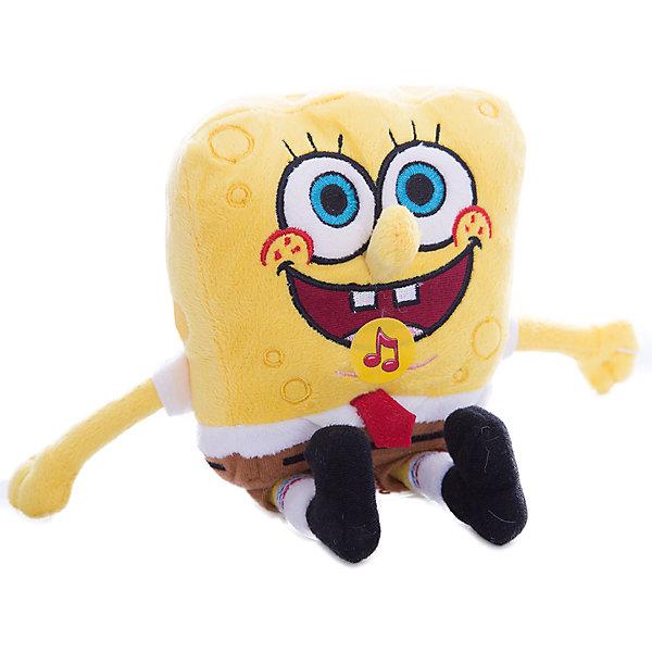 Мульти-Пульти Мягкая игрушка Губка Боб, 14 см, со звуком, МУЛЬТИ-ПУЛЬТИ