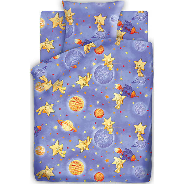 Детское постельное белье 1,5 сп. Кошки-Мышки, КосмостарДетское постельное бельё<br>Комплект бязь 1,5-спальный, Космостар от бренда Кошки-мышки<br><br>Этот комплект постельного белья создан специально для современных детей - любителей космических приключений. На нем изображены звезды и планеты. Смотрится очень эффектно! Такая расцветка обеспечит ребенку настрой на яркие волшебные сны.<br>Комплект сшит из натурального хлопка. Этот материал не вызывает аллергии и раздражения, позволяет коже дышать, обеспечивает комфорт во время сна, легко стирается. Размеры всех предметов - стандартные для полутораспального комплекта, отлично подойдут для детской кровати и спальных принадлежностей.<br><br>Особенности комплекта:<br><br>пододеяльник: 143*215 см (1 шт.);<br>простыня: 150*214 см (1 шт.);<br>наволочка: 70*70 см (1шт.)<br>ткань: бязь (100% хлопок).<br><br>Комплект бязь 1,5-спальный, Космостар от бренда Кошки-мышки можно купить в нашем магазине<br>Ширина мм: 250; Глубина мм: 350; Высота мм: 70; Вес г: 1150; Возраст от месяцев: 36; Возраст до месяцев: 144; Пол: Унисекс; Возраст: Детский; SKU: 4660088;