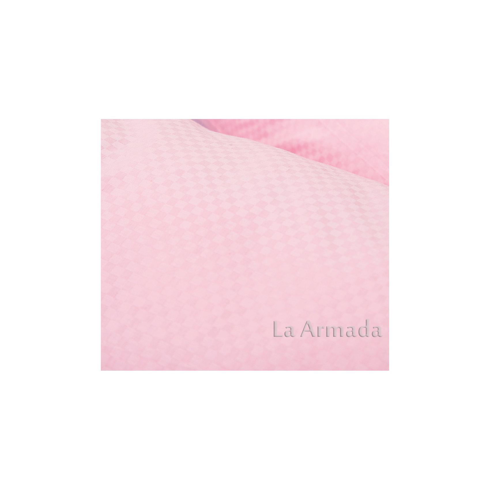 Подушка для беременных Аура 190х37 (сатин) с шариками полистирола, La Armada, розовый