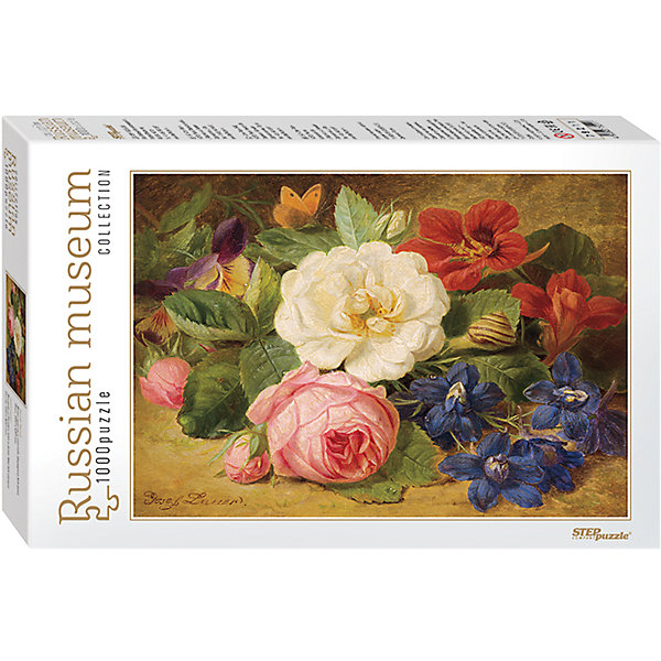 Степ Пазл Пазл Букет цветов с улиткой, 1000 деталей, Step Puzzle пазл пагода step puzzle 1000 деталей