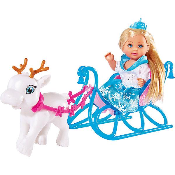 Купить Игровой набор с мини-куклой Simba Evi Love Еви на санях 12 см, Женский