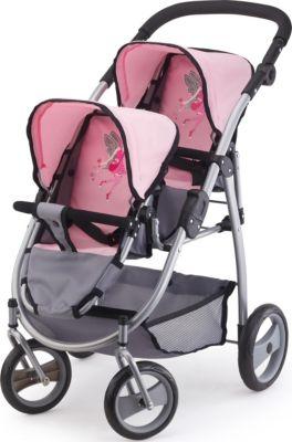 BAYER Прогулочная коляска для двух кукол Bayer