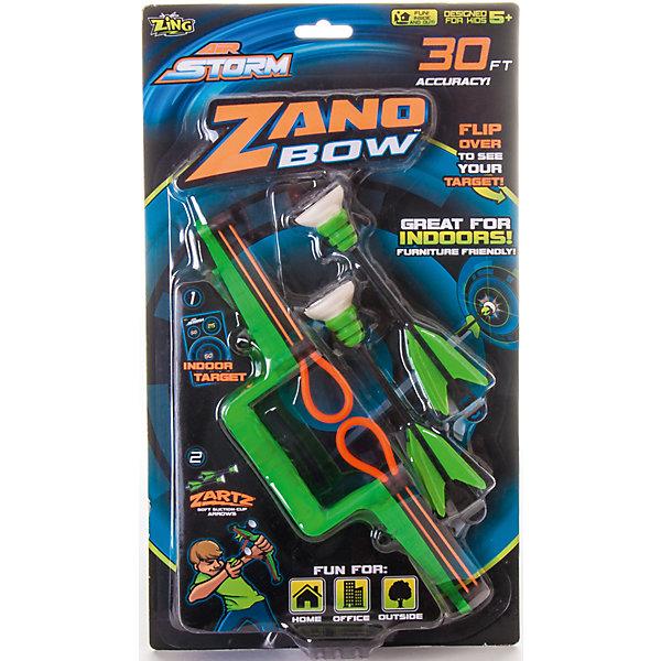 Zing Мини-лук с двумя стрелами на присосках, Zing игрушка пистолет спецагент со стрелами на присосках