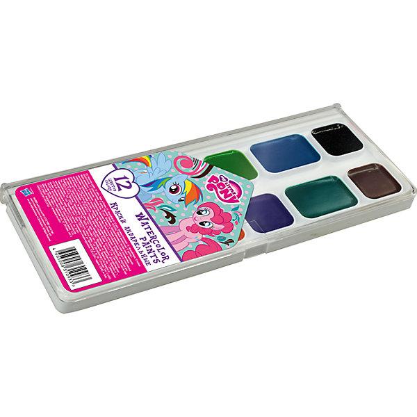 Академия групп Акварельные краски, 12 цв, My Little Pony