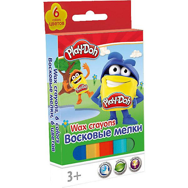 Академия групп Восковые мелки, 6 шт, Play-Doh цены онлайн