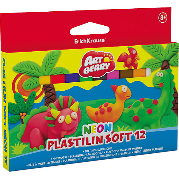 Фотография товара мягкий пластилин 12 цв., 180г, Neon (4682087)