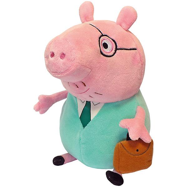 Росмэн Папа Свин с кейсом, 30 см, Свинка Пеппы набор для лепки peppa pig свинка пеппа