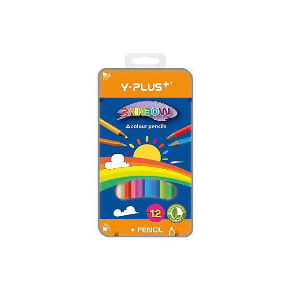 Rainbow Набор цветных карандашей Y-Plus RAINBOW, 12 цв. карандаши bruno visconti набор карандашей цветных disney белоснежка 6 цветов