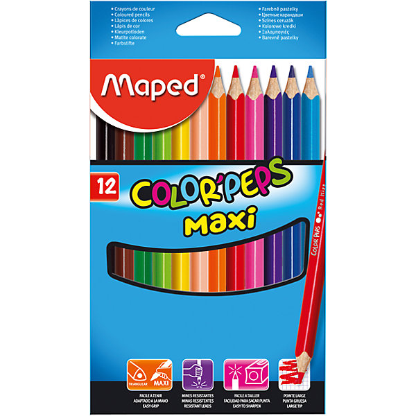 Maped Набор цветных карандашей COLORPEPS MAXI, 12 цв.