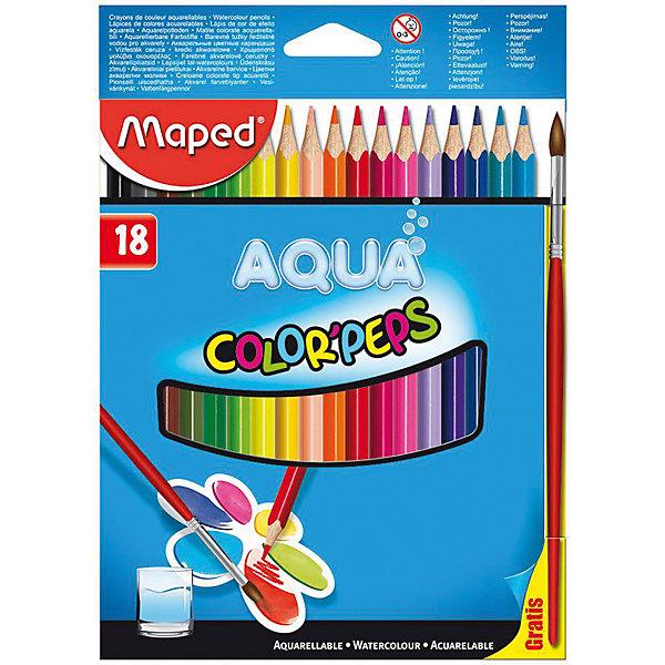 Maped Набор цветных карандашей АКВА COLORPEPS, 18 цв. ручки и карандаши princess набор цветных карандашей disney princess 18 шт
