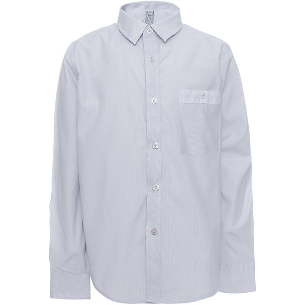 Рубашка для мальчика ScoolБлузки и рубашки<br>Рубашка для мальчика от известного бренда Scool<br>Состав:<br>45% хлопок, 55% полиэстер<br>Классическая светло-серая сорочка в мелкую полоску. Застегивается на пуговицы. На груди кармашек. Контрастная белая отделка по планке, карману и на рукавах.<br>Ширина мм: 174; Глубина мм: 10; Высота мм: 169; Вес г: 157; Цвет: голубой; Возраст от месяцев: 120; Возраст до месяцев: 132; Пол: Мужской; Возраст: Детский; Размер: 146,152,122,128,134,140,158,164; SKU: 4686742;