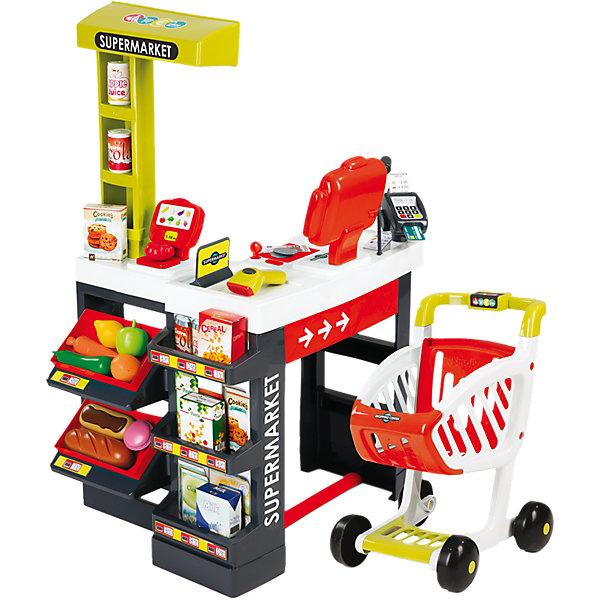 Smoby Игровой набор Smoby Супермаркет с тележкой, звук игровой супермаркет звуковой с тележкой 17 предметов