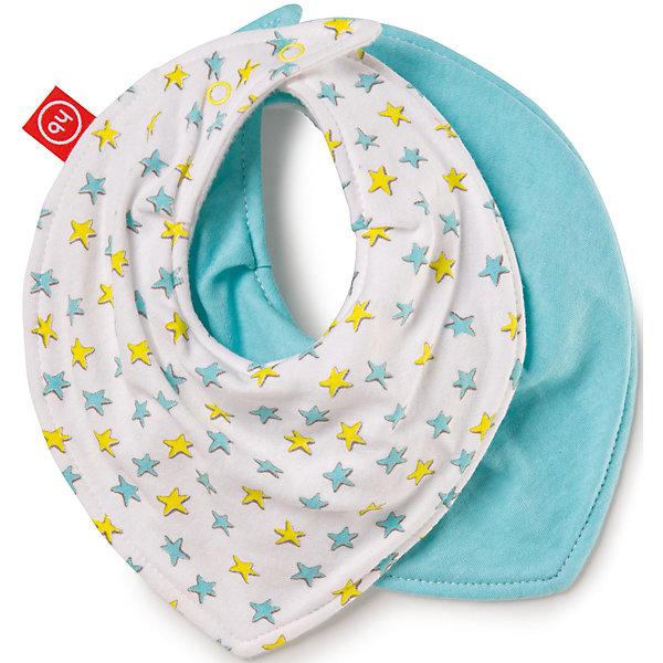 Happy Baby Набор нагрудных фартуков Звезды, Happy Baby, белый/голубой хэппи беби happy baby набор нагрудных фартуков звезда арт 16010