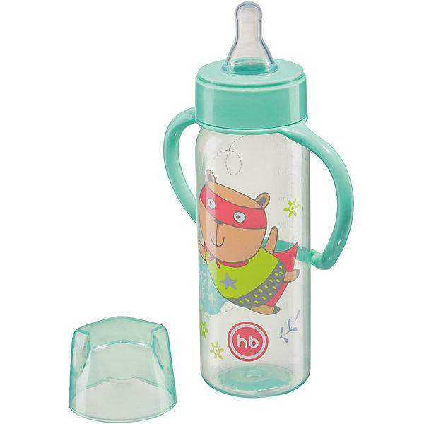 Фотография товара бутылочка для кормления с ручками, 250 мл, Happy Baby, мятный (4696779)