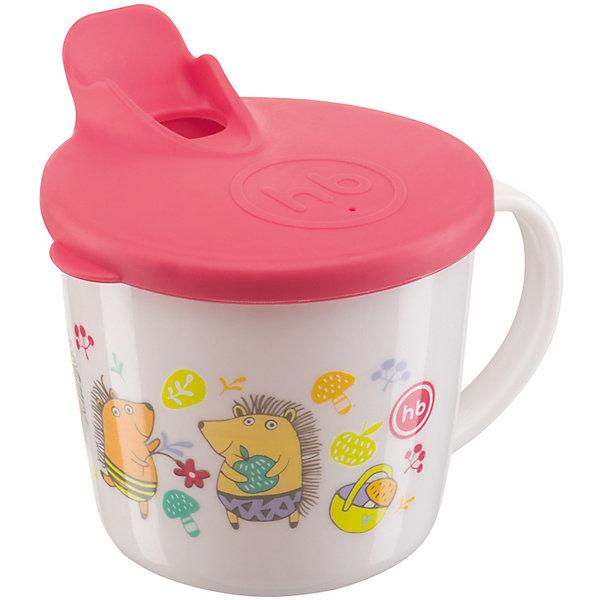 кружка на присоске happy baby baby cup with suction base 15022 red Happy Baby Кружка с крышкой, Happy Baby, красный