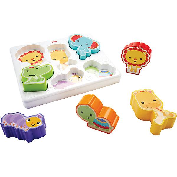 Mattel Сортер Друзья из тропического леса, Fisher-Price развивающие игрушки кубики fisher price животные из тропического леса