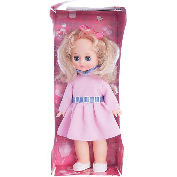 Кукла Жанна 7, со звуком, 36 см, ВеснаБренды кукол<br>Красивая кукла от отечественного производителя способна не просто помочь ребенку весело проводить время, но и научить девочку одеваться со вкусом. На ней - модный костюм, всё можно снимать и надевать.<br>Кукла произносит несколько фраз, механизм работает от батареек. Очень красиво смотрятся пышные волосы, на которых можно делать прически. Сделана игрушка из качественных и безопасных для ребенка материалов. Такая кукла поможет ребенку освоить механизмы социальных взаимодействий, развить моторику и воображение. Также куклы помогают девочкам научиться заботиться о других.<br><br>Дополнительная информация:<br><br>- материал: пластмасса;<br>- волосы: прошивные;<br>- открывающиеся глаза;<br>- звуковой модуль;<br>- снимающаяся одежда и обувь;<br>- высота: 36 см.<br><br>Комплектация:<br><br>- одежда;<br>- три батарейки СЦ 357.<br><br>Куклу Жанна 7, со звуком, от марки Весна можно купить в нашем магазине.<br>Ширина мм: 170; Глубина мм: 100; Высота мм: 420; Вес г: 340; Возраст от месяцев: 36; Возраст до месяцев: 1188; Пол: Женский; Возраст: Детский; SKU: 4701840;