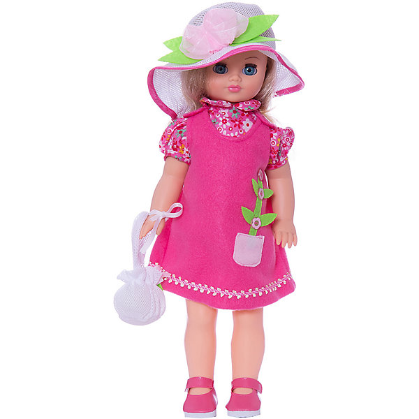 Кукла Лиза 12, со звуком, 42 см, ВеснаКуклы<br>Нарядная кукла от отечественного производителя способна не просто помочь ребенку весело проводить время, но и научить девочку одеваться со вкусом. На ней - красивый летний наряд со шляпой и сумочкой, обувь, всё можно снимать и надевать.<br>Кукла произносит несколько фраз, механизм работает от батареек. Очень красиво смотрятся пышные волосы, на которых можно делать прически. Сделана игрушка из качественных и безопасных для ребенка материалов. Такая кукла поможет ребенку освоить механизмы социальных взаимодействий, развить моторику и воображение. Также куклы помогают девочкам научиться заботиться о других.<br><br>Дополнительная информация:<br><br>- материал: пластмасса;<br>- волосы: прошивные;<br>- открывающиеся глаза;<br>- звуковой модуль;<br>- снимающаяся одежда и обувь;<br>- высота: 42 см.<br><br>Комплектация:<br><br>- одежда;<br>- три батарейки СЦ 357.<br><br>Куклу Лиза 12, со звуком, от марки Весна можно купить в нашем магазине.<br>Ширина мм: 120; Глубина мм: 170; Высота мм: 420; Вес г: 570; Возраст от месяцев: 36; Возраст до месяцев: 1188; Пол: Женский; Возраст: Детский; SKU: 4701845;