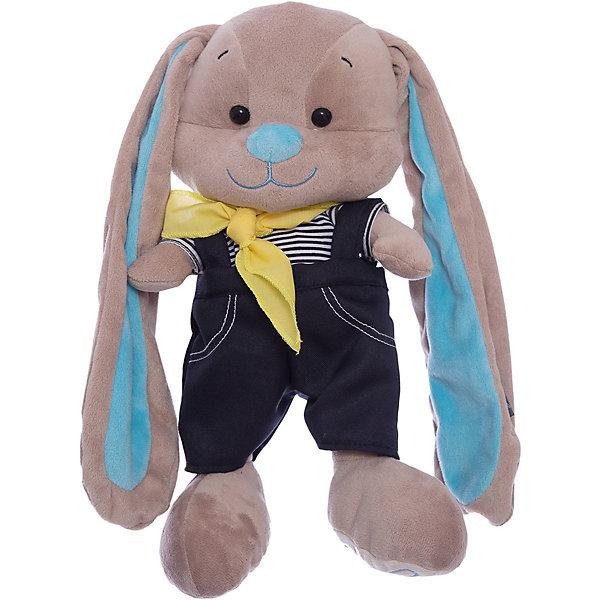 Maxitoys Зайчик Жак в морском костюмчике, 25 см, MAXITOYS мягкие игрушки maxitoys собачка зиночка в платье