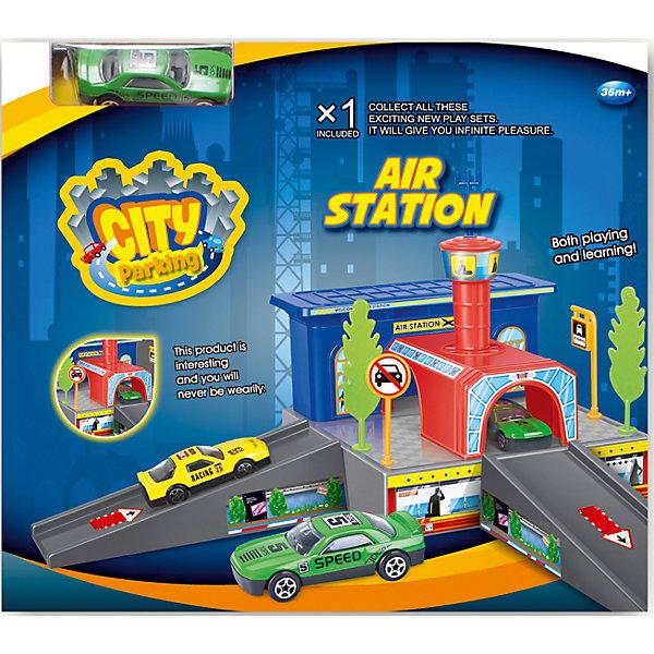 Dave Toys Набор Аэропорт с машинкой, Dave Toy игровой набор dave toy заправочная станция с 1 машинкой