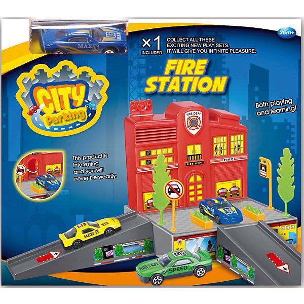 """Фотография товара набор """"Пожарная станция с машинкой"""", Dave Toy (4708151)"""