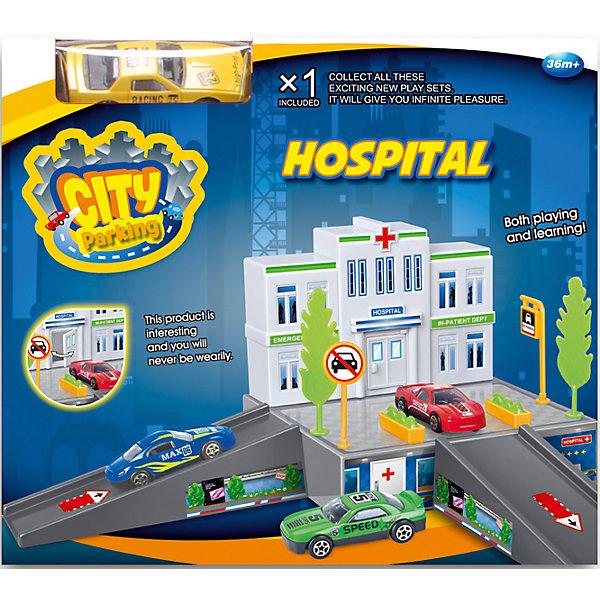 Dave Toys Набор Больница с машинкой, Dave Toy игровой набор dave toy заправочная станция с 1 машинкой