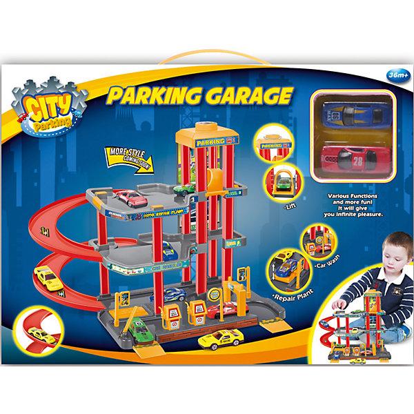 Dave Toys Набор Парковка с 2 машинками, Dave Toy игровой набор dave toy заправочная станция с 1 машинкой