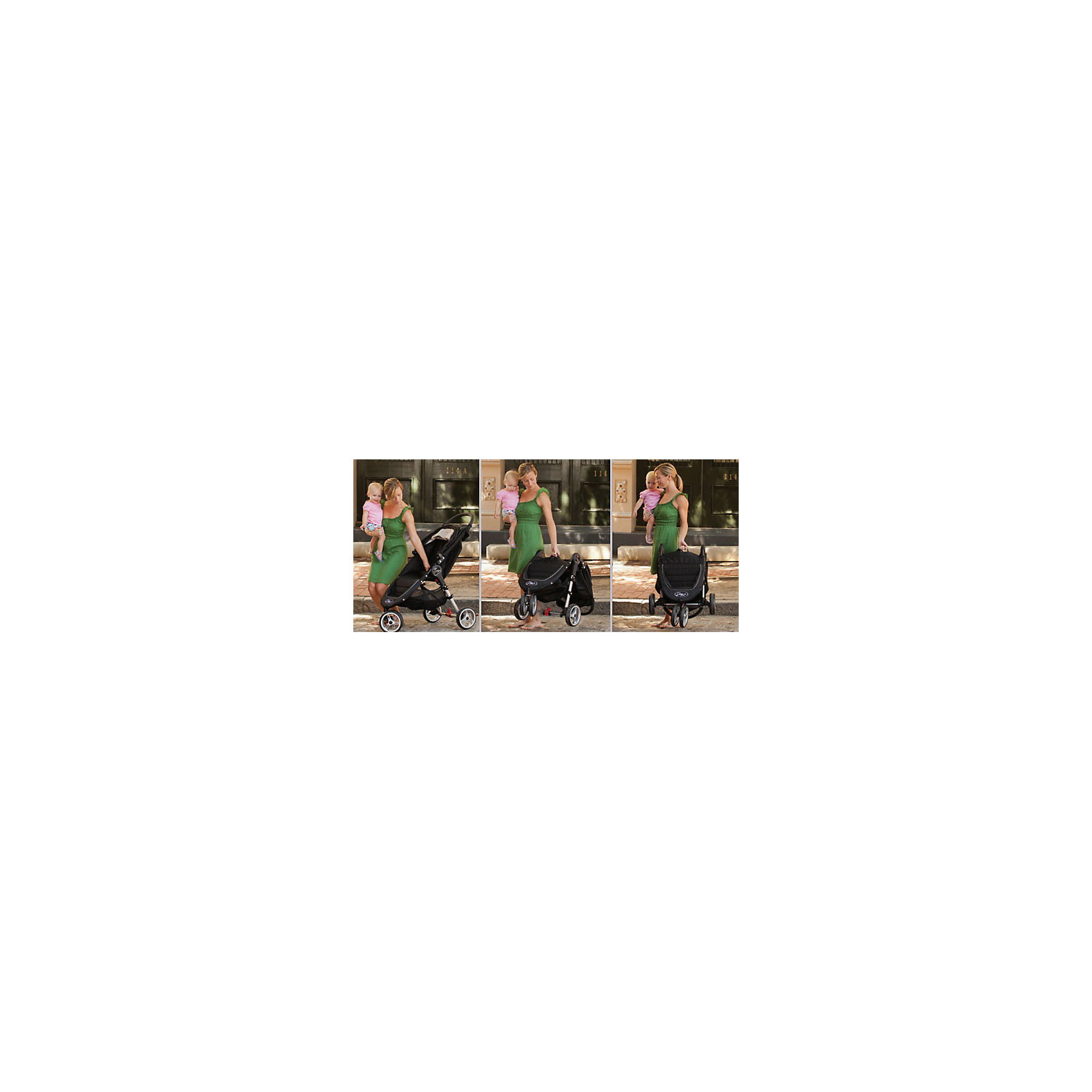 Прогулочная коляска City Mini Single, Baby Jogger, красно-серый
