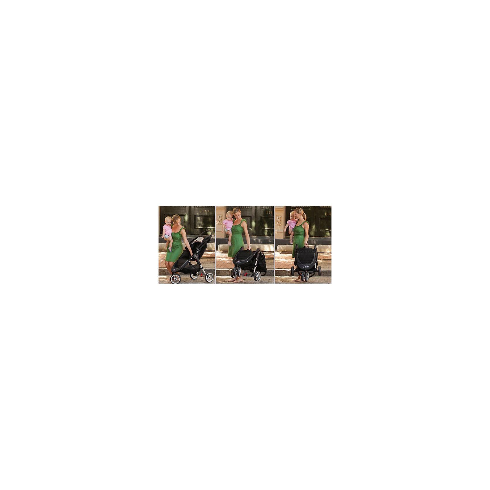 Прогулочная коляска City Mini Single, Baby Jogger, фиолетово-серый