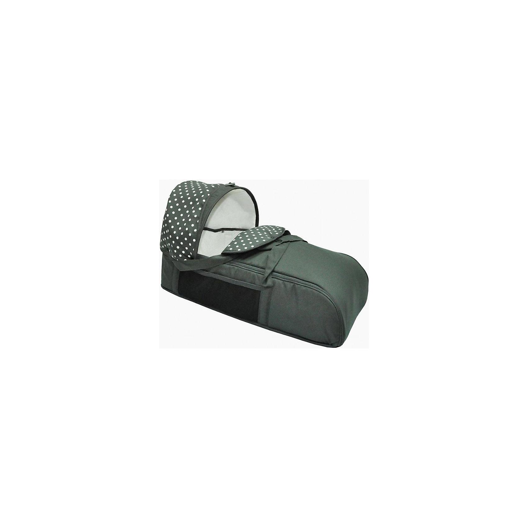 Люлька-переноска для коляски АЛИСА, Лео, серый горох (ЛЕО)
