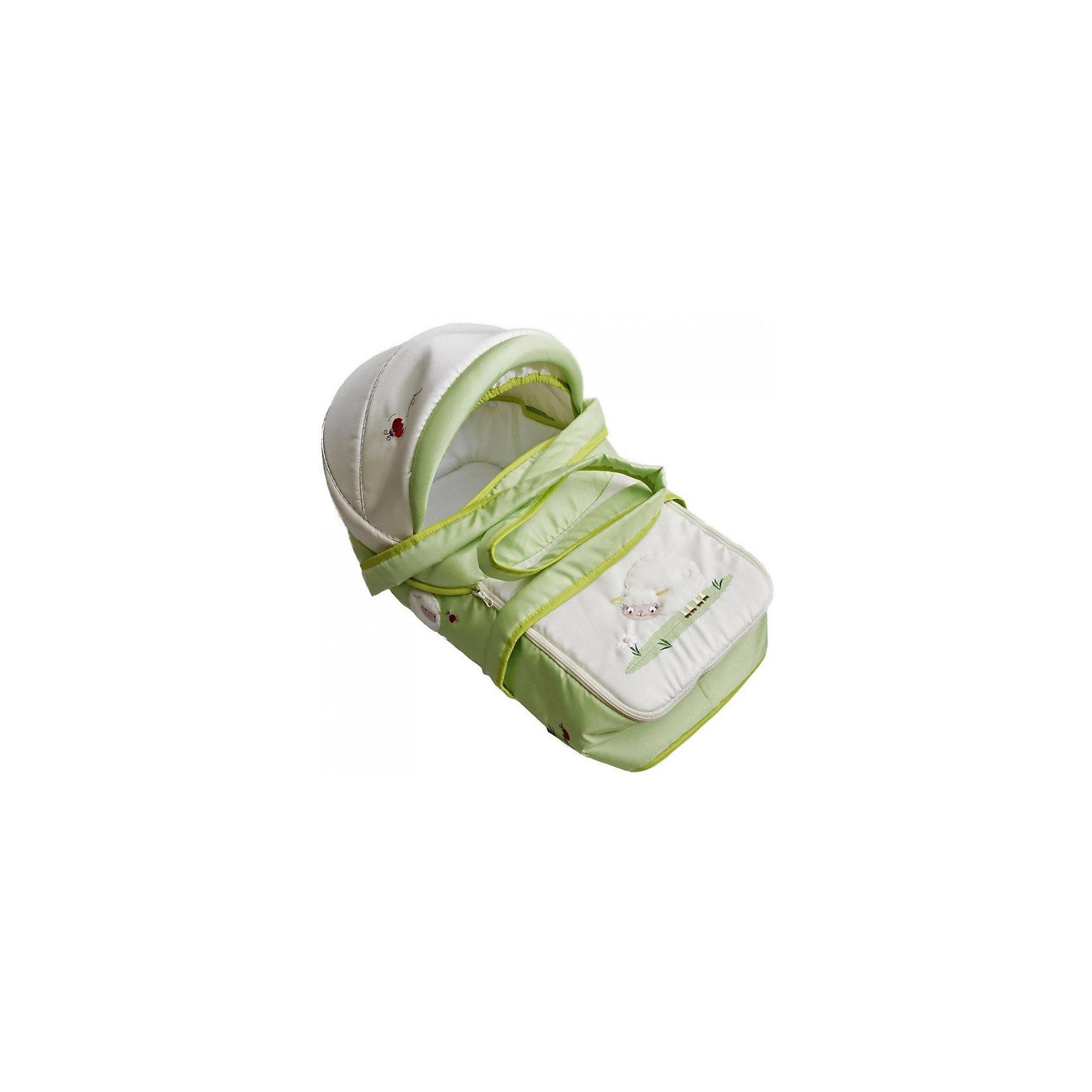 Люлька-переноска для коляски ВЕСЕЛЫЕ ЗВЕРЯТА, Лео, На лугу (ЛЕО)