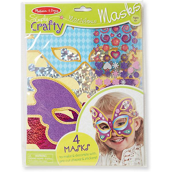 Melissa & Doug Набор для создания масок Великолепные маски маски мимов купить