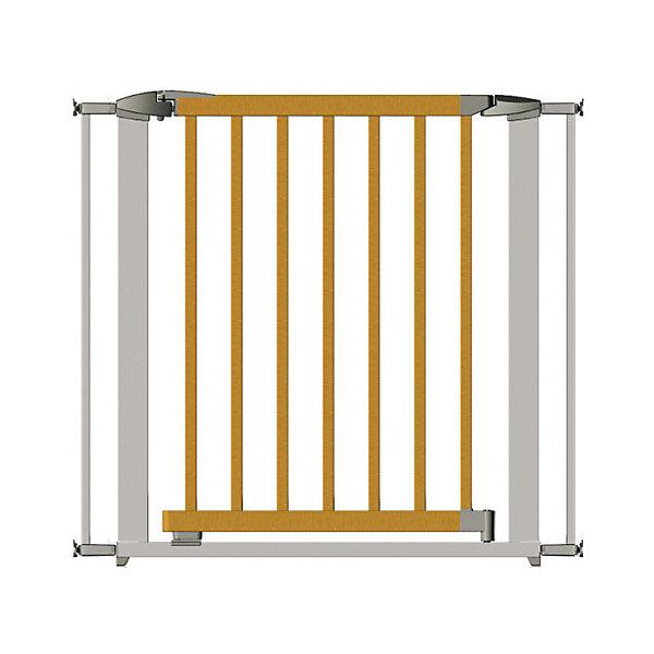 Clippasafe Ворота безопасности 73-96 см, серебристый ворота безопасности hauck trigger lock safely gate silver