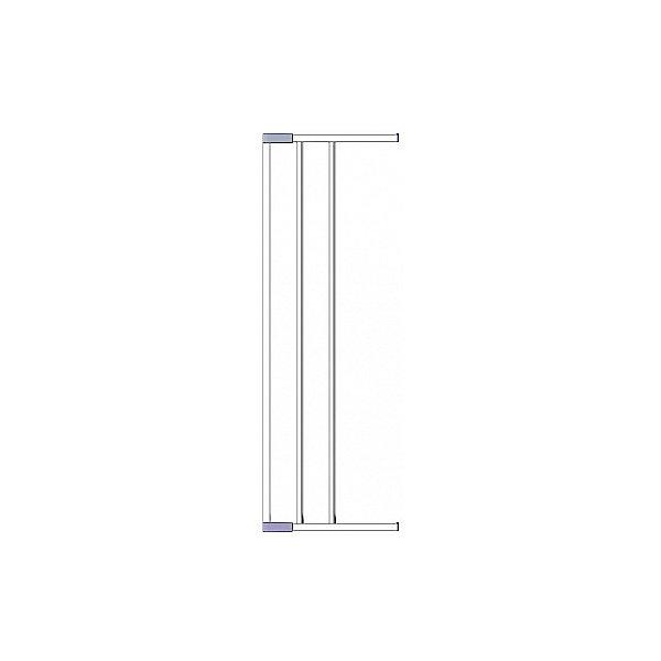 Clippasafe Дополнительная секция к воротам безопасности 18 см, белый