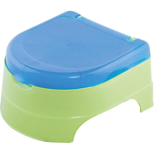 Горшок-подножка 2 в 1, Summer Infant, зеленый/голубойДетские горшки и писсуары<br>Горшок-подножка 2 в 1, Summer Infant, My Fun Potty, обеспечит комфорт и удобство Вашему малышу и поможет ему быстрее приучиться к взрослому унитазу. Горшок состоит из стульчика-подножки, сиденья для унитаза и съемного резервуара. Удобное анатомическое сиденье обеспечивает ребенку максимальный комфорт, а когда малыш подрастет его можно установить на ободок взрослого унитаза. При необходимости горшок с закрывающейся крышкой легко трансформируется в удобную подножку, чтобы ребенок мог достать до раковины или взрослого унитаза. Резиновые основания горшка обеспечивают устойчивость и предотвращают скольжение по полу. В комплект также входят веселые яркие наклейки, которыми можно украсить горшок. Рекомендуемый возраст: от 18 месяцев до 5 лет.<br><br>Дополнительная информация:<br><br>- Цвет: нейтральный.<br>- В комплекте: горшок, 2 листа с наклейками.<br>- Материал: полипропилен. <br>- Размер горшка: 34 х 32 х 19 см.<br>- Вес: 1,2 кг.<br><br>Горшок-подножку 2 в 1, Summer Infant, нейтральный, можно купить в нашем интернет-магазине.<br>Ширина мм: 250; Глубина мм: 220; Высота мм: 300; Вес г: 1200; Возраст от месяцев: 9; Возраст до месяцев: 36; Пол: Унисекс; Возраст: Детский; SKU: 4722147;