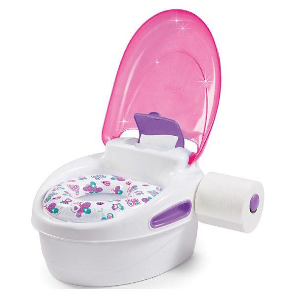 Горшок-подножка 3 в 1, Summer Infant, розовыйДетские горшки и писсуары<br>Горшок-подножка 3 в 1, Summer Infant, My Fun Potty, обеспечит комфорт и удобство Вашей малышке и поможет ей быстрее приучиться к взрослому унитазу. Горшок состоит из стульчика-подножки, сиденья для унитаза и съемного резервуара. Удобное анатомическое сиденье обеспечивает ребенку максимальный комфорт, а когда малышка подрастет его можно установить на ободок взрослого унитаза. При необходимости горшок с закрывающейся крышкой легко трансформируется в удобную подножку, чтобы ребенок мог достать до раковины или взрослого унитаза. Резиновые основания горшка обеспечивают устойчивость и предотвращают скольжение по полу. Горшок снащен ручками для поддержания равновесия малыша, боксом для хранения влажных салфеток и держателем для туалетной бумаги. Рекомендовано для детей от 18 месяцев до 5 лет.<br><br>Дополнительная информация:<br><br>- Цвет: розовый.<br>- Материал: полипропилен. <br>- Размер горшка в собранном виде: 37 х 32 х 23 см.<br>- Размер подставки: 37 х 32 х 12,5 см.<br>- Вес: 1,2 кг.<br><br>Горшок-подножку 3 в 1, Summer Infant, розовый, можно купить в нашем интернет-магазине.<br>Ширина мм: 250; Глубина мм: 220; Высота мм: 300; Вес г: 1500; Возраст от месяцев: 9; Возраст до месяцев: 36; Пол: Женский; Возраст: Детский; SKU: 4722149;