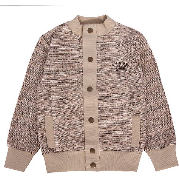 Толстовка для мальчика АпрельТолстовки<br>Куртка Апрель<br>Куртка из коллекции Король Лев от торговой марки Апрель - идеальный вариант одежды на каждый день в прохладное время года. Стильная куртка выполнена в бежевом цвете, на спине украшена принтом в виде льва. Куртка имеет два кармана, застегивается спереди на пуговицы. Изготовлена из натуральной хлопчатобумажной ткани – футер. Футер - это удивительно комфортная гладкая с внешней стороны, мягкая и нежная - с внутренней стороны ткань. Небольшое добавление лайкры оберегает изделие от образования складок.<br><br>Дополнительная информация:<br><br>- Пол: мальчик<br>- Цвет: бежевый<br>- Ткань: футер<br>- Состав: 95% хлопок 5% лайкра<br><br>Куртку Апрель можно купить в нашем интернет-магазине.<br>Ширина мм: 215; Глубина мм: 88; Высота мм: 191; Вес г: 336; Цвет: бежевый; Возраст от месяцев: 84; Возраст до месяцев: 96; Пол: Мужской; Возраст: Детский; Размер: 128,98,122,116,110,104; SKU: 4726368;
