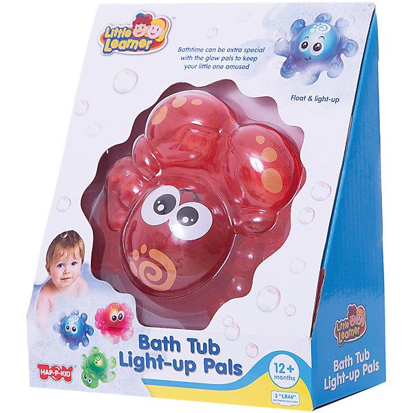 HAP-P-KID Игрушка для ванной Крабик, со светом, HAP-P-KID игрушки для ванны hap p kid игрушка для купания брызгалка пингвиненок