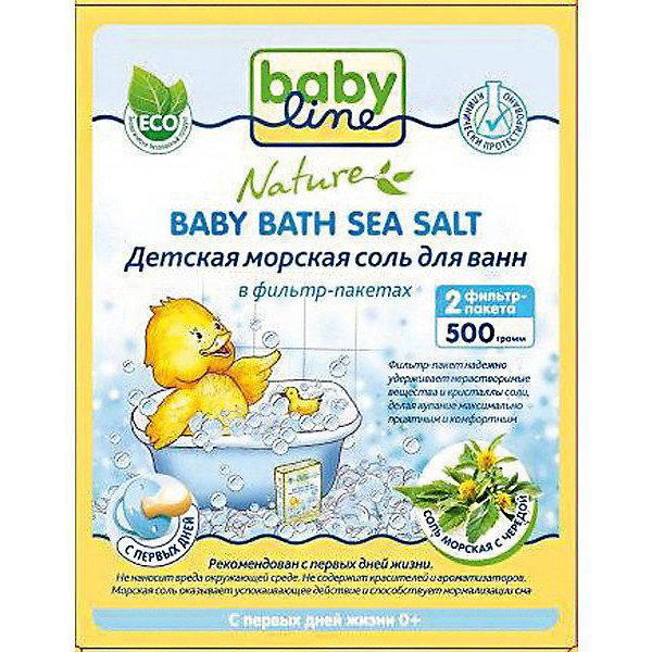 Babyline Детская морская соль для ванн с чередой, Babyline, 500 гр.