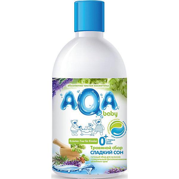 AQA baby Травяной сбор для купания малышей Сладкий сон, AQA baby, 300 мл бытовая химия glade освежитель воздуха сладкий апельсин 300 мл