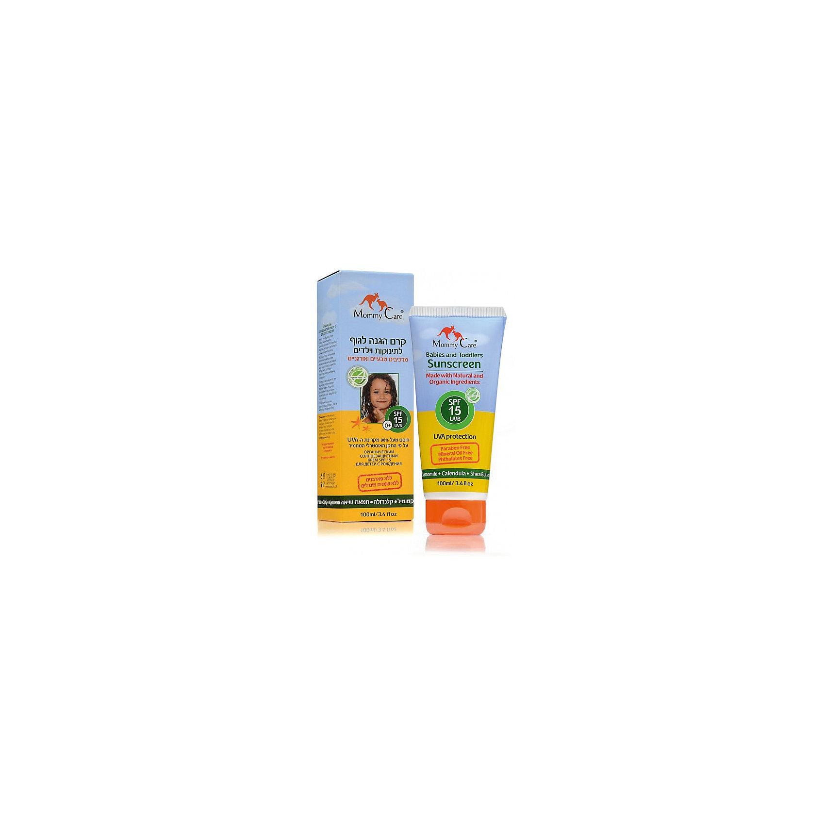 Органический солнцезащитный крем для тела SPF15, Mommy Care, 100 мл.