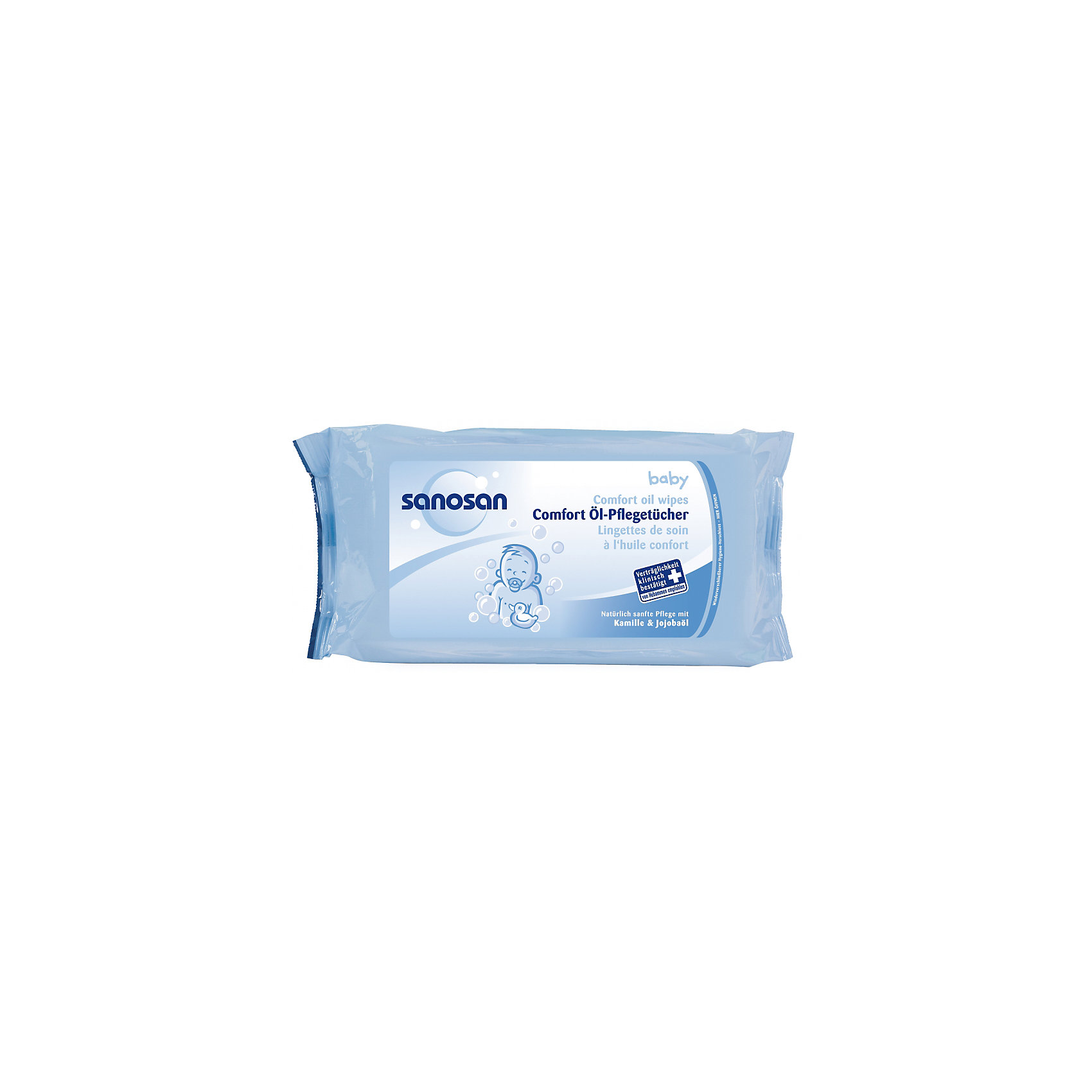 Салфетки с маслянной пропиткой Комфорт, Sanosan, 80 шт (-)