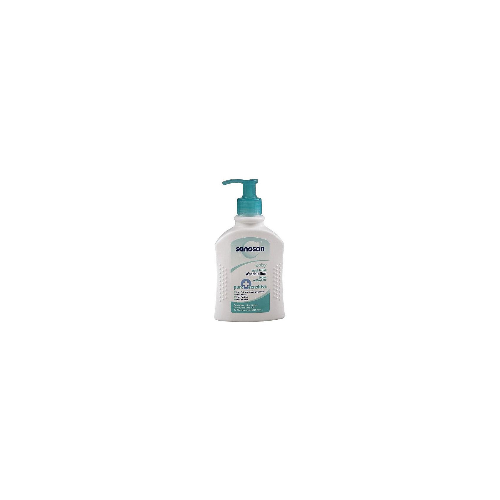 Детское средство для купания 2 в 1 Pure+Sensitive для чувствительной кожи, Sanosan, 200мл