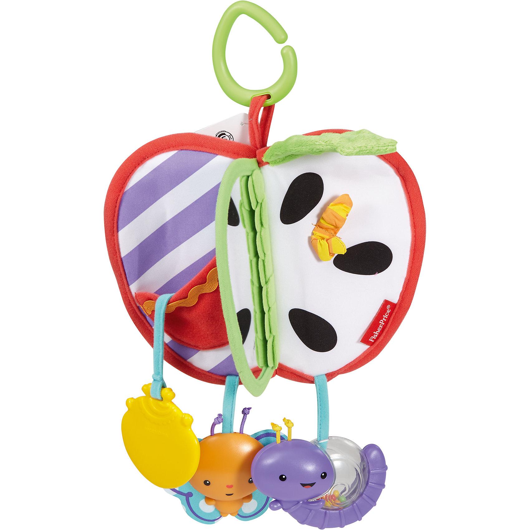 Развивающая игрушка-книжка Яблочко с прорезывателем (Mattel)